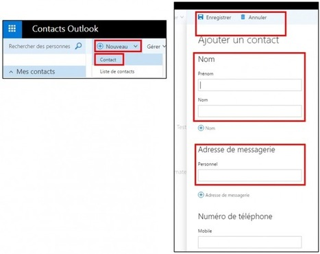Tutoriel Office Online, gérer ses contacts avec Outlook | François MAGNAN  Formateur Consultant | Scoop.it