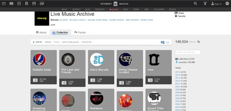 Ecouter et télécharger des concerts gratuitement avec Live Music Archive | Time to Learn | Scoop.it