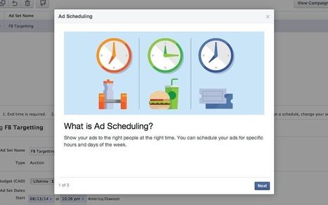 Facebook Power Editor ajoute la planification des horaires de diffusion des publicités - Geeks and Com' | Community Management | Scoop.it