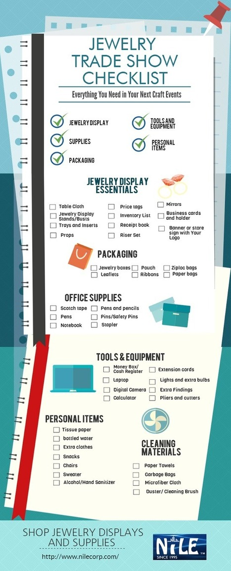 Make Your Jewelry Trade Show A Success With This Handy Checklist | Fashion and Jewelry | Scoop.it