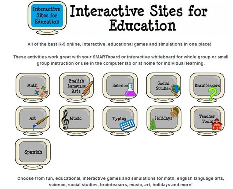 Interactive Learning Sites for Education | omnia mea mecum fero | Scoop.it