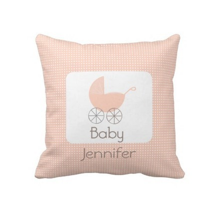 Pink Polka Dot Pram Pillow from Zazzle.com | Bedroom Decorating Ideas and Bedding Ideas | Scoop.it
