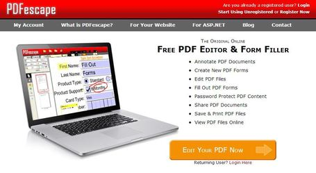 PDFescape - Free PDF Editor & Free PDF Form Filler | Educatief Internet | Scoop.it