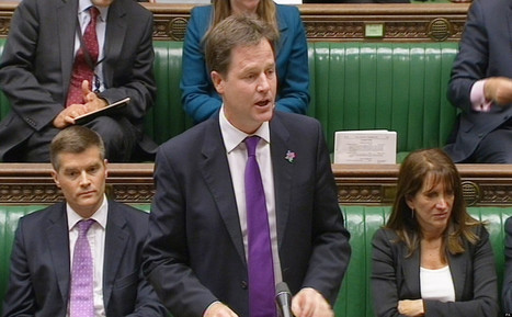 Tory MPs Gang Up On 'Hypocrite' Nick Clegg For Blocking EU Referendum Bill | Welfare, Disability, Politics and People's Right's | Scoop.it