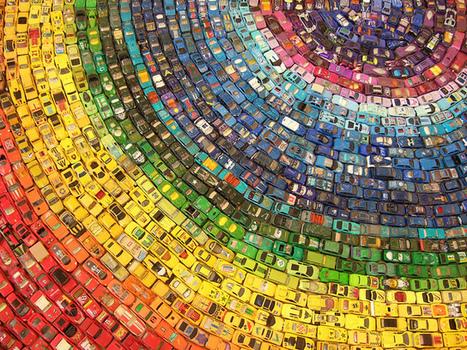De auto regenboog | Creatief Hergebruik | Scoop.it