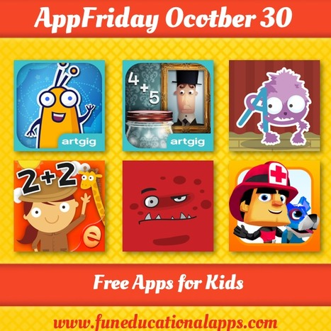 Friday Free Apps for Education and Fun Learning - #APPFRIDAY October 30 - Fun Educational Apps for Kids | Best Apps for Kids | Scoop.it