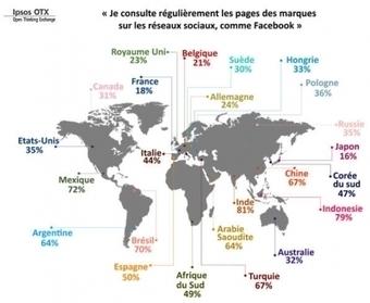 Cartographie des amateurs de marques sur les réseaux sociaux dans le monde | WEBMARKETING | Scoop.it