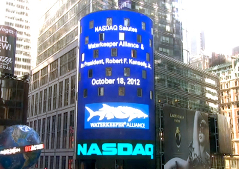 NASDAQ Salutes the Work of Waterkeeper Alliance and Robert F. Kennedy, Jr. « EcoWatch: Uniting the Voice of the Grassroots Environmental Movement | EcoWatch | Scoop.it