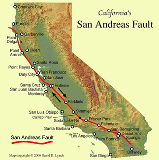 San Andreas Fault Line - Fault Zone Map and Photos | 8th Grade Earth Science | Scoop.it