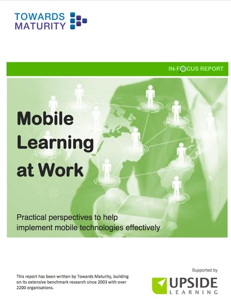[PDF] Mobile Learning at Work | Educación y TIC | Scoop.it