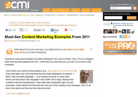 Content Marketing Examples of 2011   Content Marketing for Solopreneurs   Scoop.it