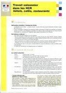 Travail saisonnier dans les hôtels, cafés, restaurants (HCR) - saison été 2013   Veille inspection du travail   Scoop.it