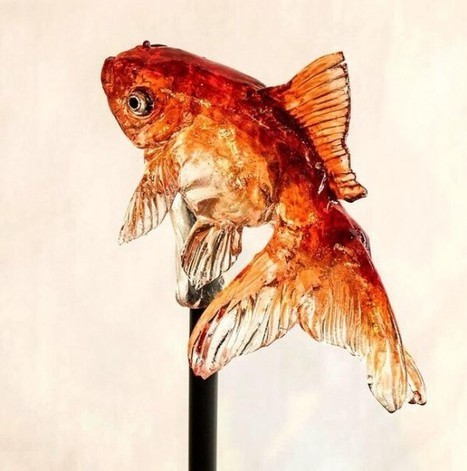 #Amezaiku - The #Japanese #Art of Making #Candy #Artworks. #lollipop #sweets #sculpture #fish | Luby Art | Scoop.it