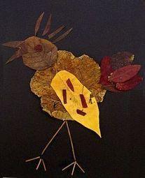 Activité d'art visuel à partir de feuilles mortes | Découvertes de SitesPE | Scoop.it