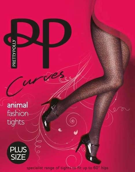 Trendy grote maten pantys met luipaard patroon Curves Animal van Pretty Polly zwart ,maat XL   pantys-boutique.nl   Pantys Kousen   Scoop.it