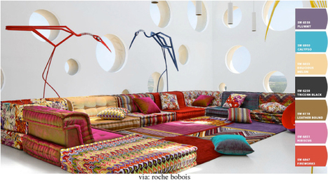 Bold Color:  Inspiration for using colors in interiors | Designing Interiors | Scoop.it
