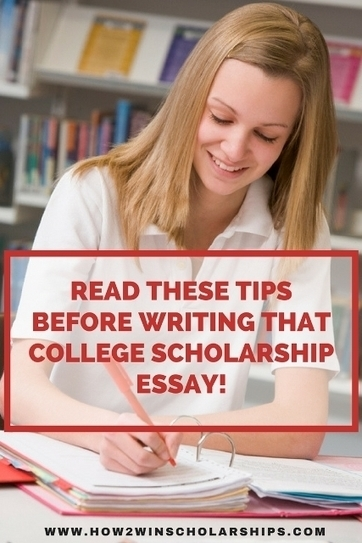 Read these Tips BEFORE Writing that College Scholarship Essay | College Scholarships | Scoop.it