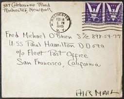 Lettre de Marianne au soldat américain O'Brien, 1945 #6   HistoBook   GenealoNet   Scoop.it