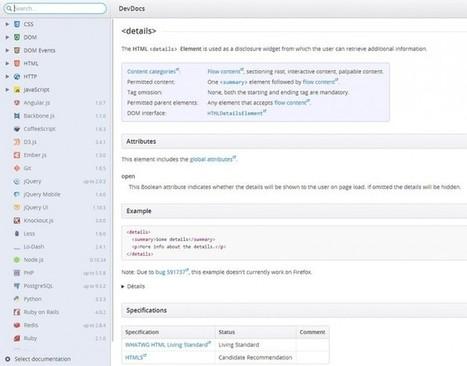 Aujourd'hui c'est #dev avec #extractcss et #devdocs   SlyDnet   Au fil du Web   Scoop.it