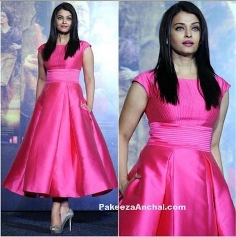 Pretty Aishwarya Rai in Aiisha Ramadan Pink Gown promoting SarbJit | Indian Fashion Updates | Scoop.it