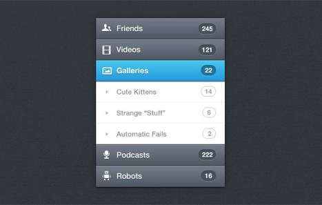 20 Free High Quality Navigation Menu PSD Files for Designers | Free Design Tools | Scoop.it