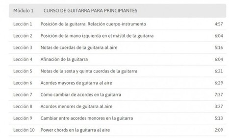 2 cursos online gratuitos para aprender guitarra | TIC.misc | Scoop.it