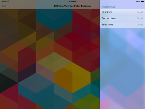 MCPanelViewController - Drop-in panel control for iOS with blurring background   iOS Tips & Nice Ideas   Scoop.it
