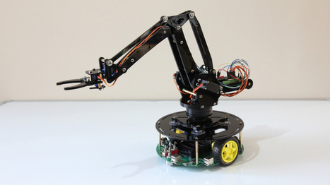 Mini industrial robot arm turns your desk into a factory space | arslog | Scoop.it