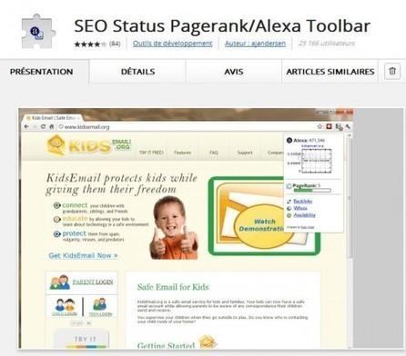 Une extension Chrome pour voir le Page Rank et l'indice Alexa des pages Web, SEO Status | Ballajack | eMarketing2011 | Scoop.it