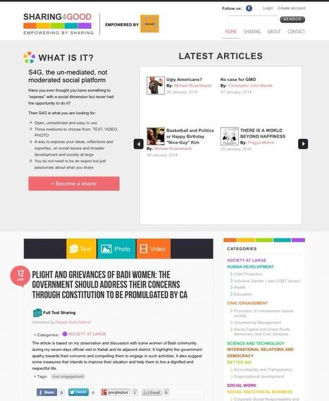 Revised S4G Platform | S4G Articles | Scoop.it