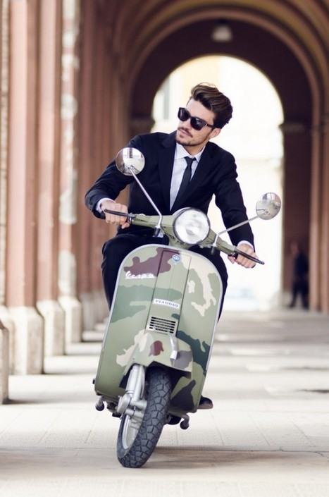 suit × camo vespa | Vespa Stories | Scoop.it