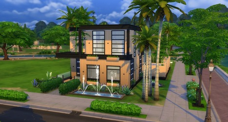 Little star une maison sims 4 no cc for Exterieur sims 4