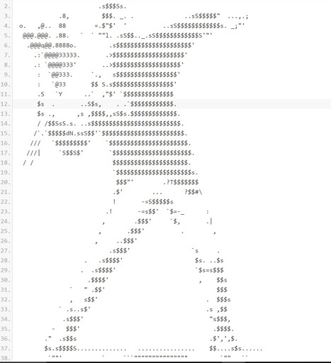 Banksy Ascii • /r/ASCII_Archive | ASCII Art | Scoop.it