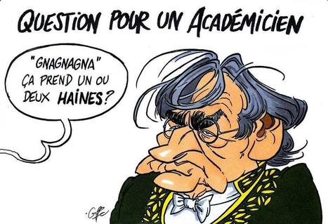 "Question pour un académicien: ""gnagnagna"" ça prend un ou deux haines? 