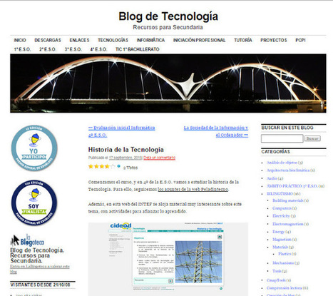 "Profesoratecno: Enlace a estos interesantes y completos blogs con toda la información que necesitamos de: ""Historia de la Tecnología"" 