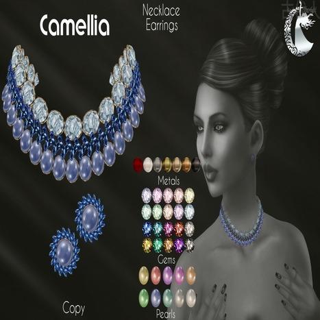Second Life Moondance Camellia Jewelry Set - NessMarket | 亗 Second Life Freebies Addiction & More 亗 | Scoop.it