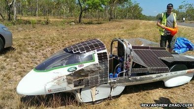 Solar car crash ends race hopes   Sustain Our Earth   Scoop.it