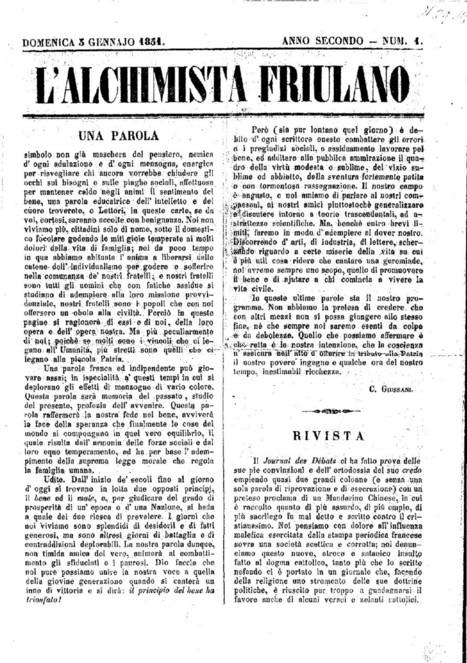 Giornali e riviste storiche del Friuli | Généal'italie | Scoop.it
