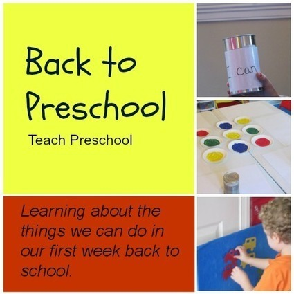 Back to school week | I can week! | Teach Preschool | Scoop.it