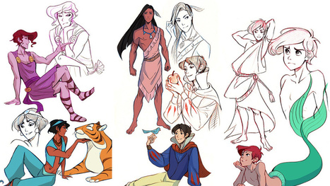 Artist perfectly captures genderswapped Disney princesses | Strange days indeed... | Scoop.it