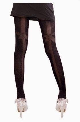 Black Opaque Bow Tights - Fashion Hosiery 101 | fashion hosiery | Scoop.it