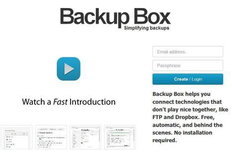 Sauvegarde automatique d'un serveur FTP vers DropBox, Backup Box | Time to Learn | Scoop.it