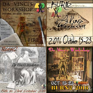 Da Vinci's Workshop - BURN 2 vom 15. bis 23. Oktober 2016 - Second life | Second Life and other Virtual Worlds | Scoop.it