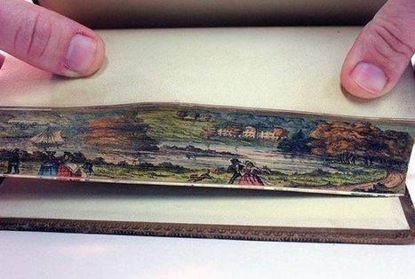 Arte secreta, pinturas en bordes de libros | todoarte | Scoop.it
