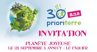 Club Climat d'Annecy: Les 30 ans de Prioriterre ! | Planete Joyeuse | Scoop.it