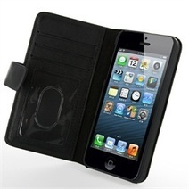 Luxury Genuine Leather Wallet Stand Case for iPhone 5/5S (Giftbox + Dustbag) | Kindle Fire HDX Case | Scoop.it