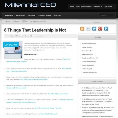 8 Things That Leadership Is Not   Surviving Leadership Chaos   Scoop.it