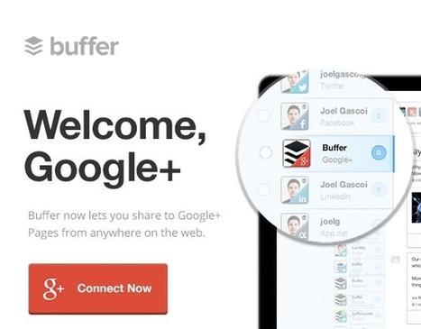 It's here! Post to Google+ Pages with Buffer | RSS Circus : veille stratégique, intelligence économique, curation, publication, Web 2.0 | Scoop.it