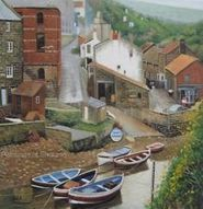 YORKSHIRE STAITHES Roxby Beck Fishing Boats BRITISH ORIGINAL ART Oil Landscape | Aluminum Boat Guide | Scoop.it