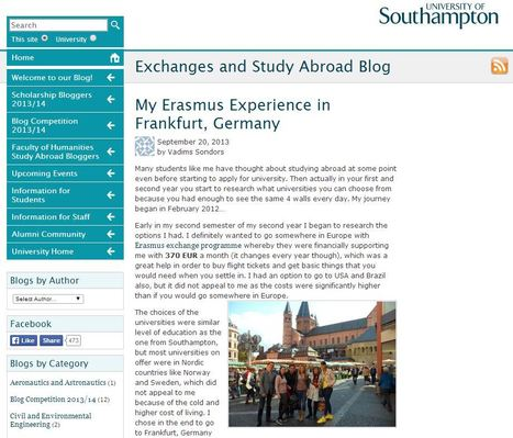 Read Vadims' blog about his Erasmus experience studying abroad in Germany | Get Ready For Languages at Southampton | Scoop.it